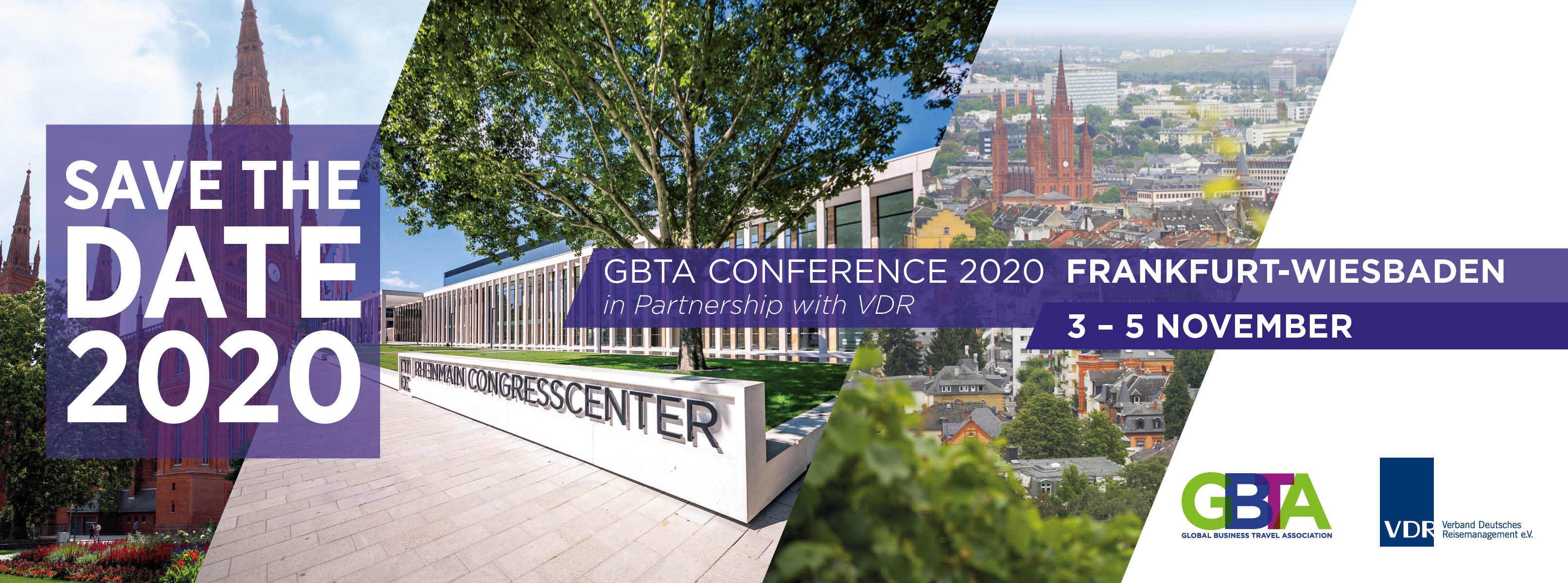 SAVE THE DATE - GBTA CONFERENCE 2020 - FRANKFURT-WIESBADEN - 3-5 NOVEMBER